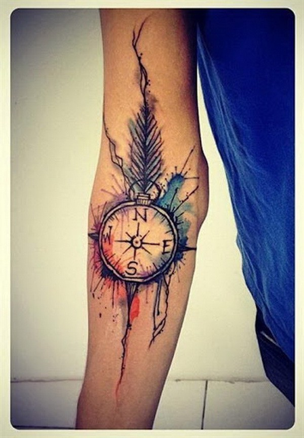 21-compass-tattoo-designs