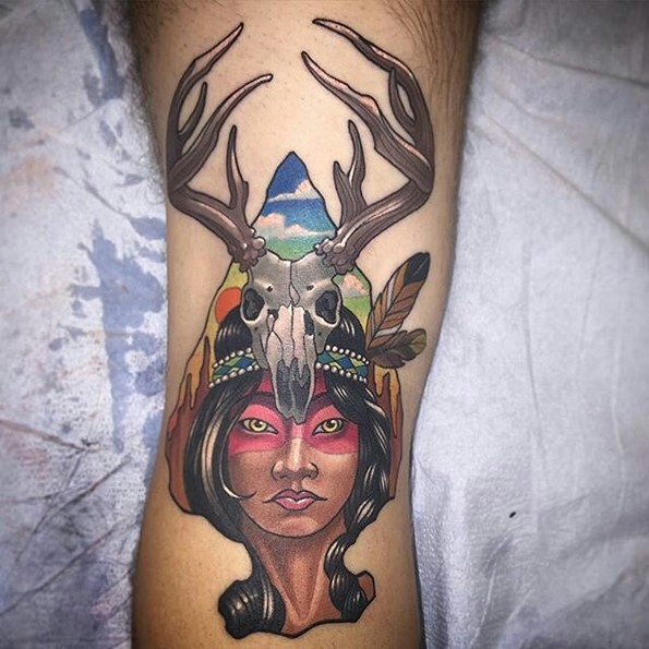 native-american-girl-tattoo-arrowhead