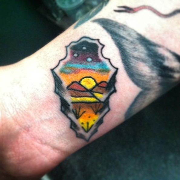 arrow-head-desert-tattoo