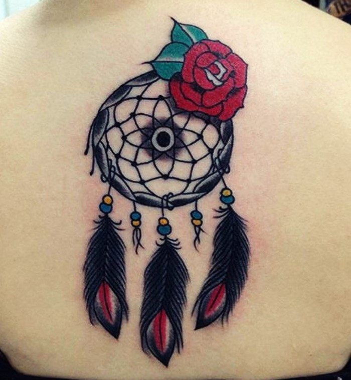 colorful-dream-catcher-tattoo-1
