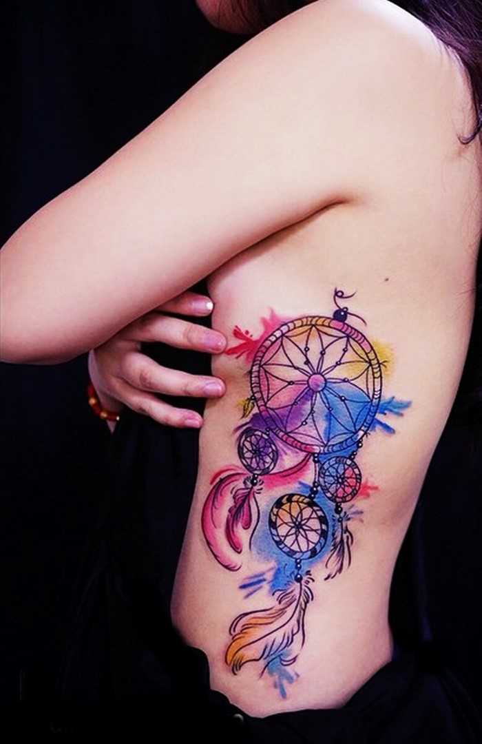 colorful-dream-catcher-tattoo-10