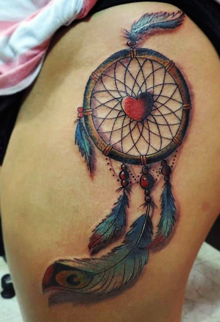 colorful-dream-catcher-tattoo-11