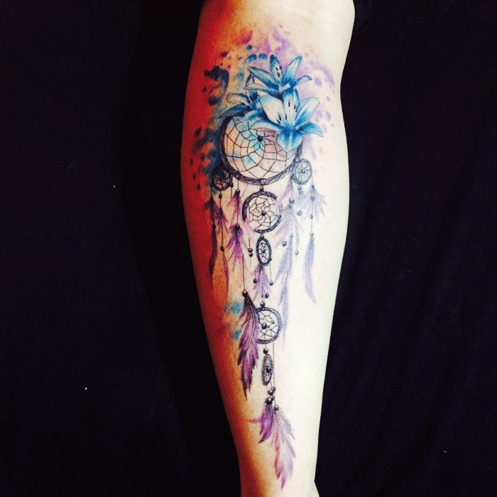 colorful-dream-catcher-tattoo-12