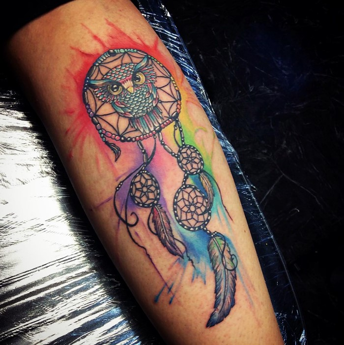 colorful-dream-catcher-tattoo-18