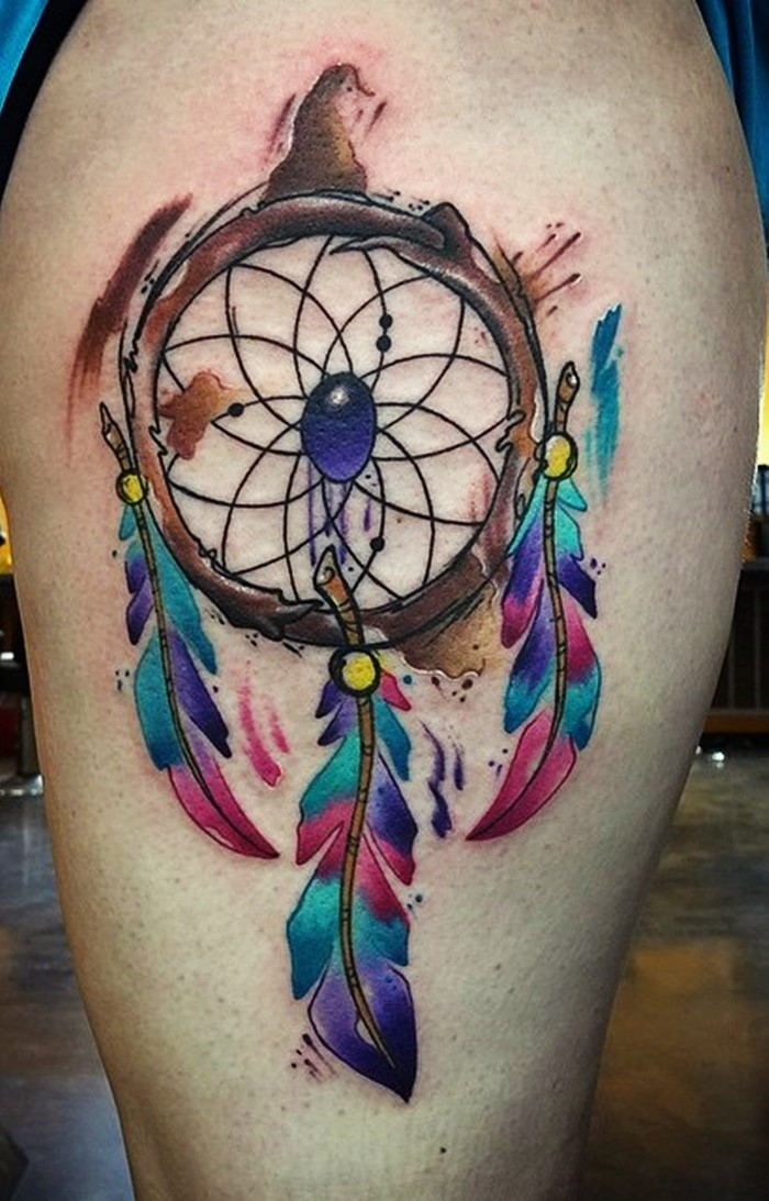 colorful-dream-catcher-tattoo-2
