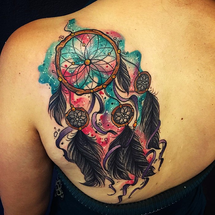 colorful-dream-catcher-tattoo-22