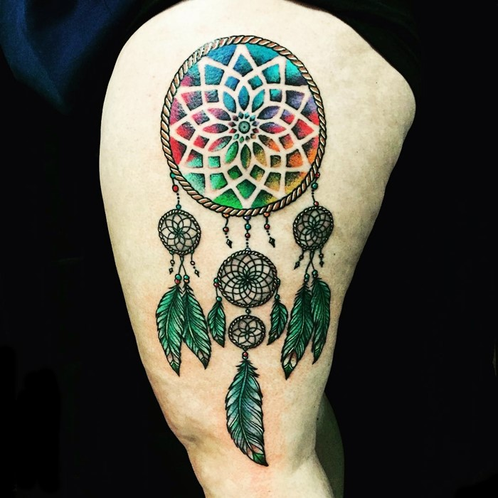 colorful-dream-catcher-tattoo-23