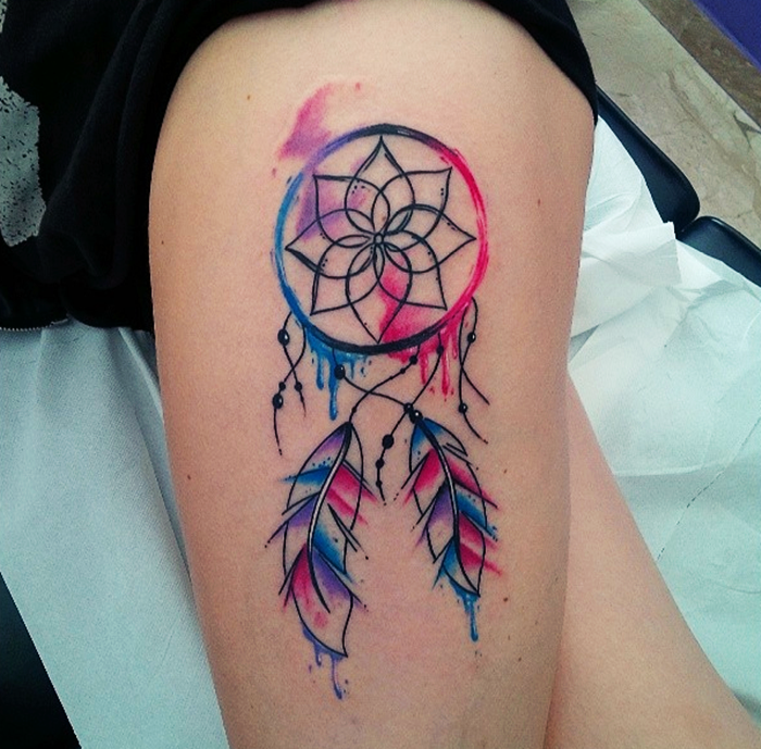 colorful-dream-catcher-tattoo-25