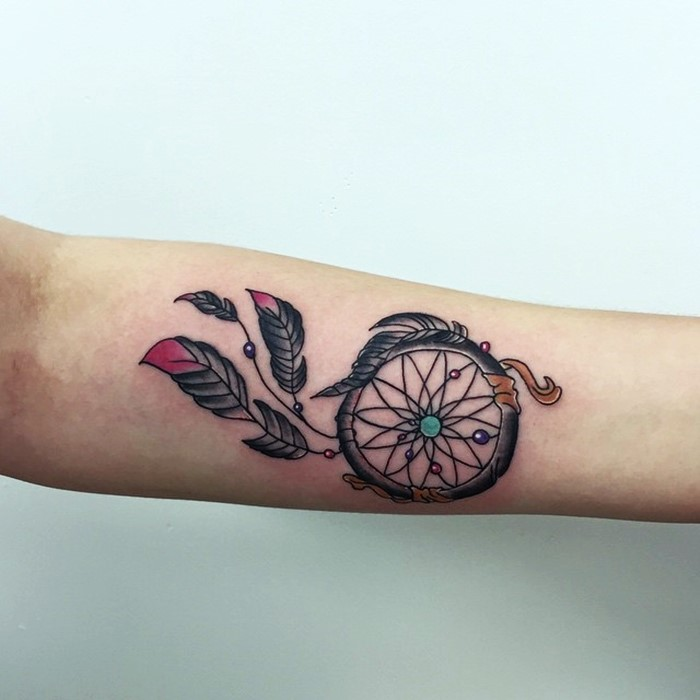 colorful-dream-catcher-tattoo-6
