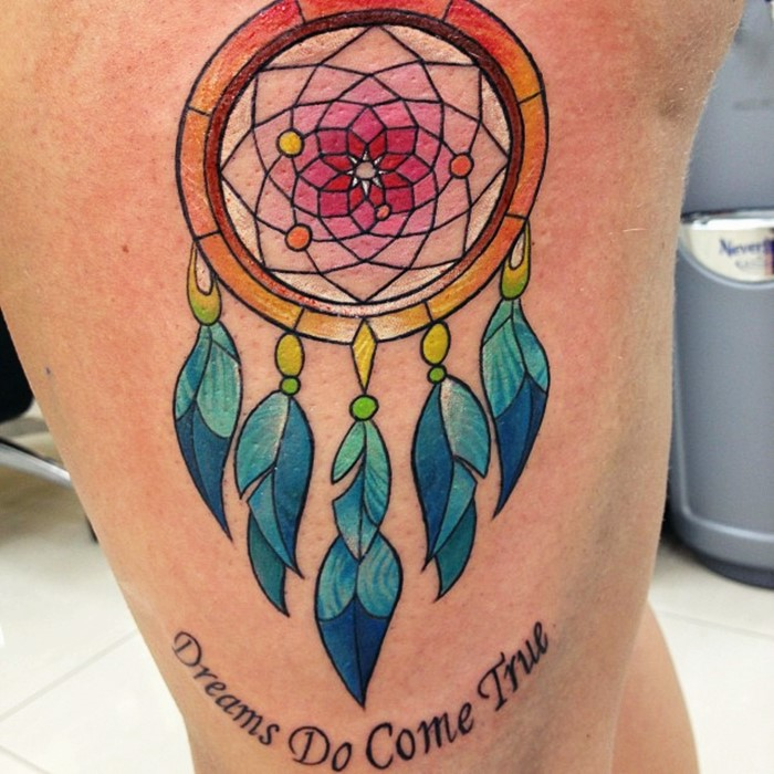 colorful-dream-catcher-tattoo-8