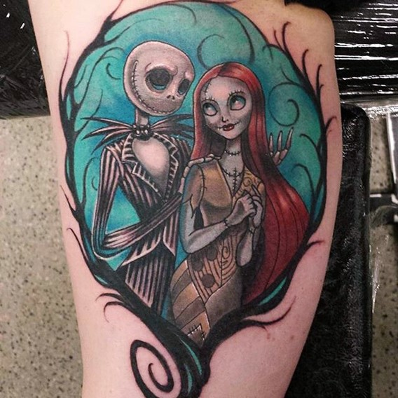 colorful-nightmare-before-christmas-tattoos