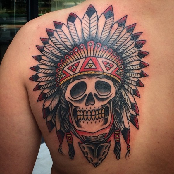 native-american-skull-tattoo-arrowhead-splash-of-color