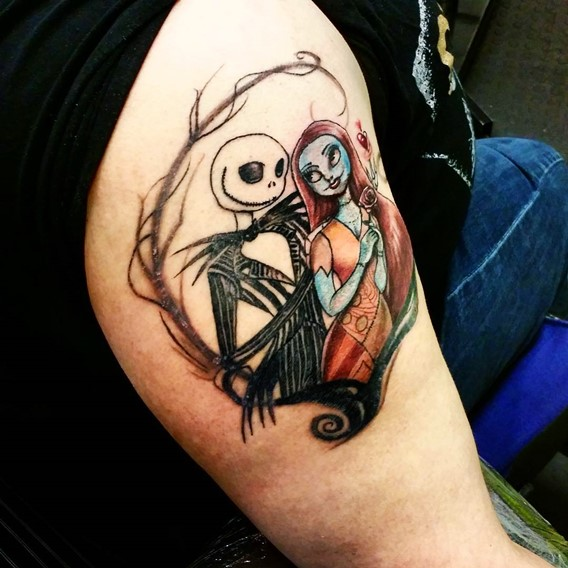 nightmare-before-christmas-arm-tattoo
