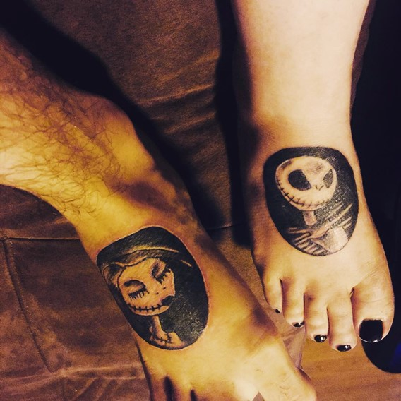 nightmare-before-christmas-matching-tattoos