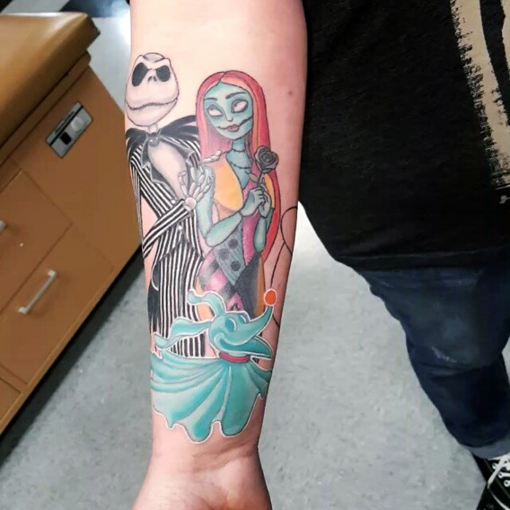 nightmare-before-christmas-tattoos-sleeves