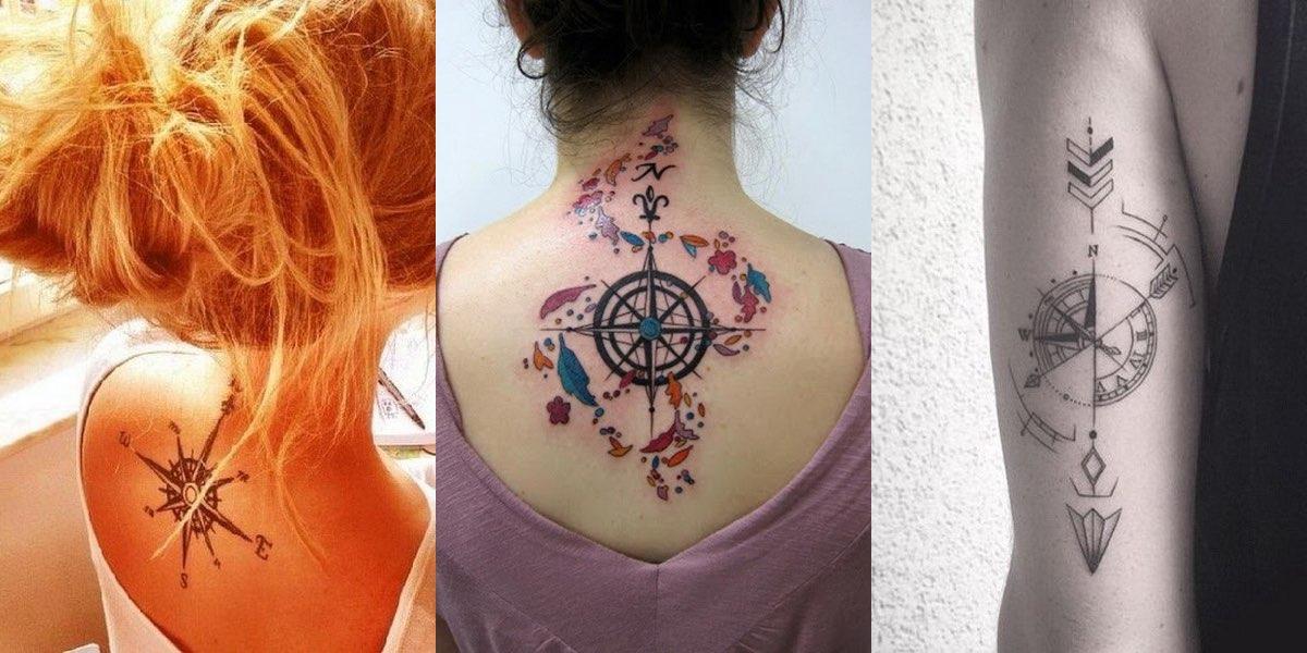 Tatuaggi con la bussola un simbolo da decifrare for Bussola tattoo significato