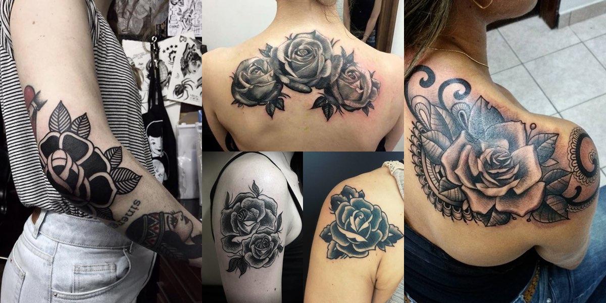 Super 40+ tatuaggi con la rosa nera: modelli e significati! JG22