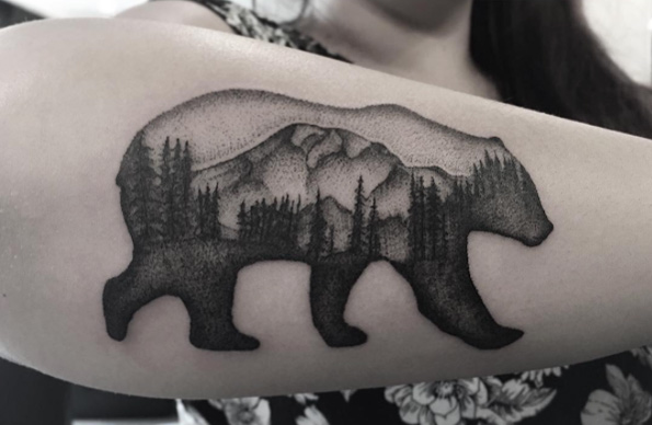 bear-landscape-tattoo