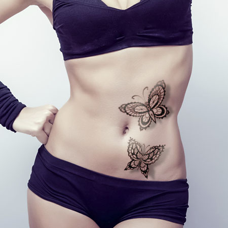 butterfly-lace-tattoo-on-waist