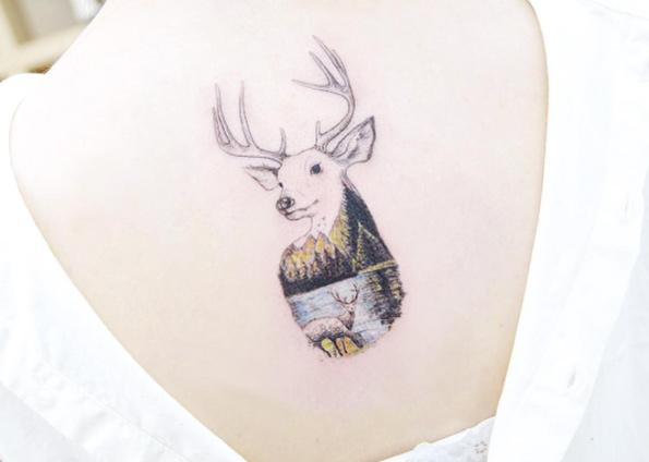 landscape-stag-tattoo