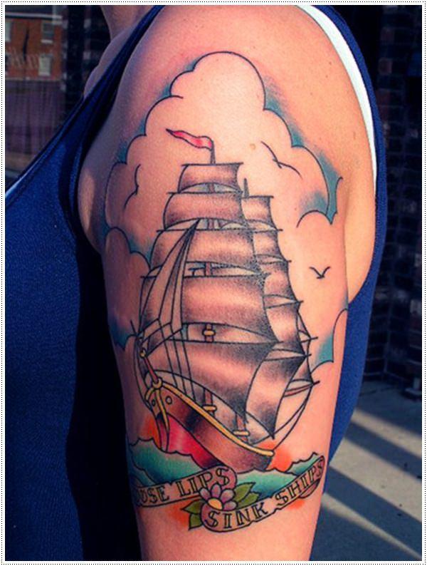 Top 30 tatuaggi con i velieri e i loro significati! NB51