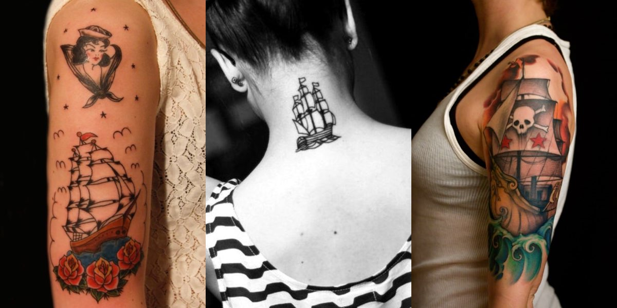 Estremamente 30 tatuaggi con i velieri e i loro significati! NT24
