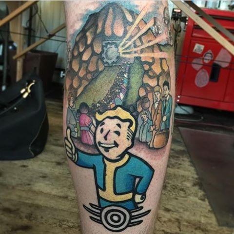 fallout-tattoos-on-leg