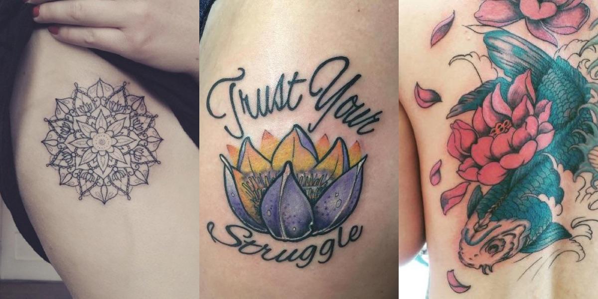 Famoso 70 tatuaggi con il fiore di loto: cosa vogliono significare? JE06