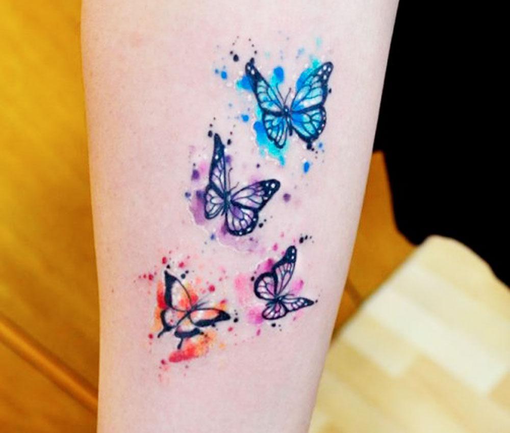 Tatuaggi con le farfalle foto e tanti significati collegati for Tattoo fiori sul polso