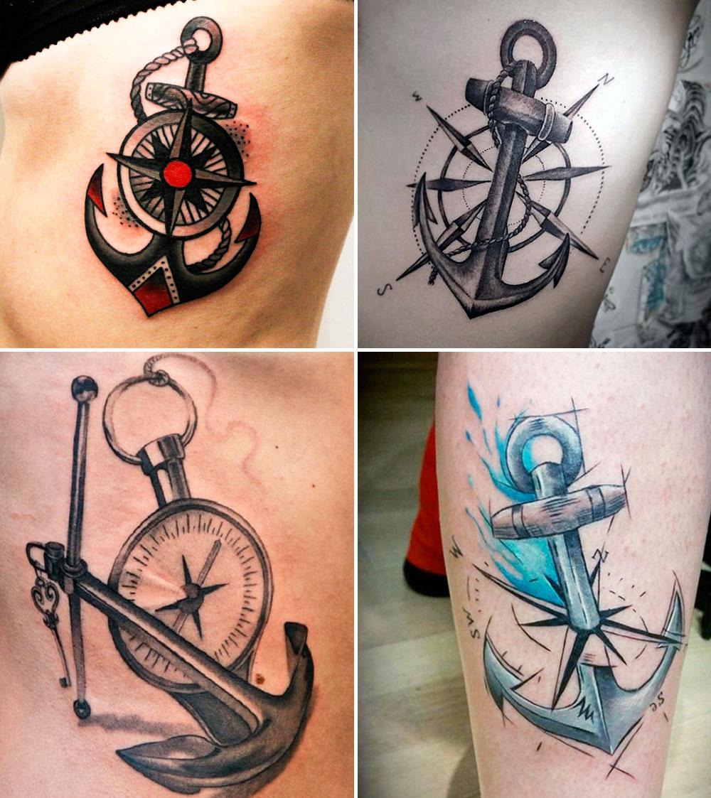 Tatuaggi con la bussola tante foto e i loro significati for Tattoo bussola significato