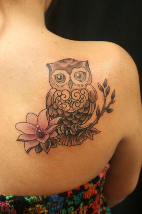 Estremamente Tatuaggio con gufi, modelli tra cui scegliere e i loro significati! WJ12