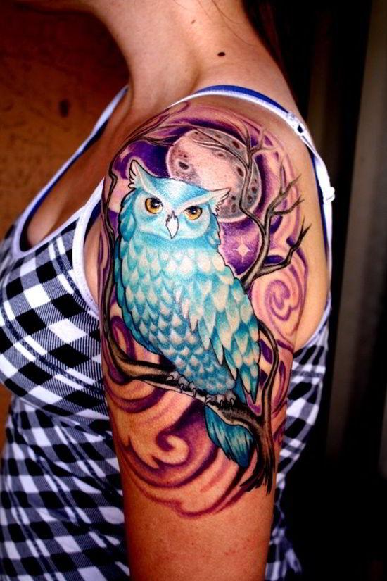 Molto Tatuaggio con gufi, modelli tra cui scegliere e i loro significati! VD54