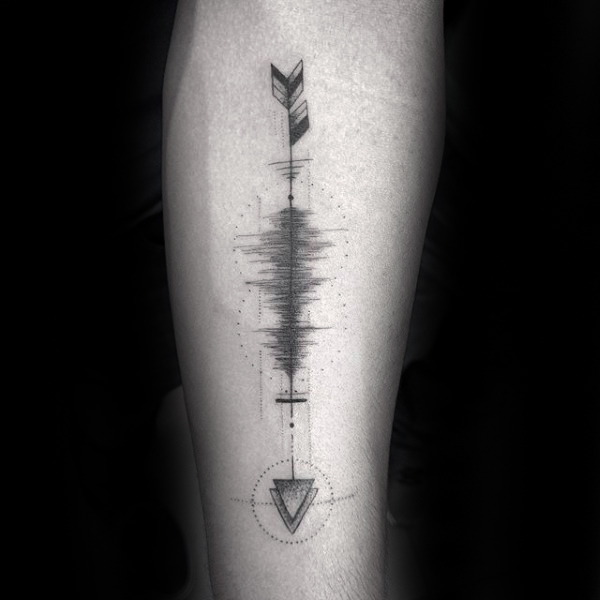 arrow-soundwave-mens-inner-forearm-tattoo-design-inspiration