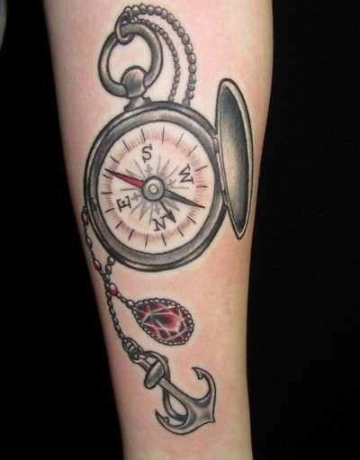 Tatuaggi con la bussola tante foto e i loro significati for Tatoo bussola
