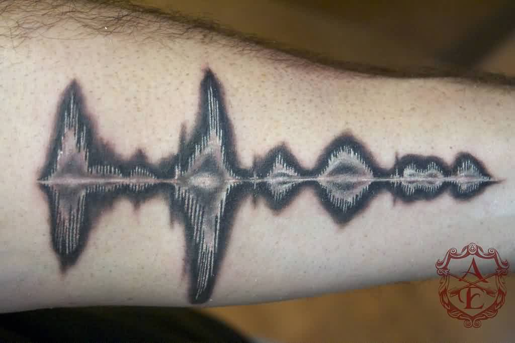 inverted-sound-wave-tattoo