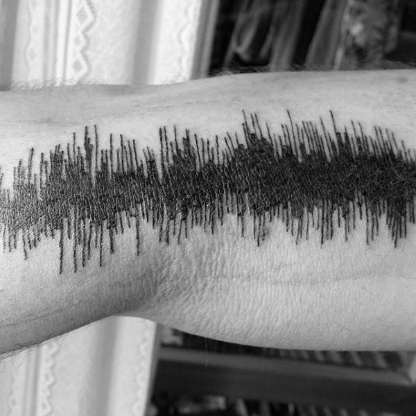 mens-arm-black-ink-lines-soundwave-tattoo-ideas