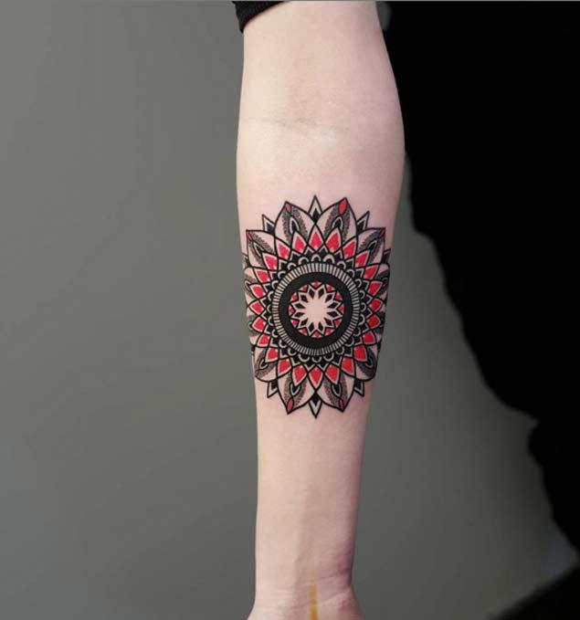 Mandala-forearm-tattoo