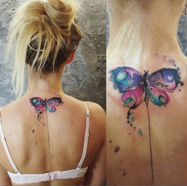 Watercolor-butterfly-tattoo-design