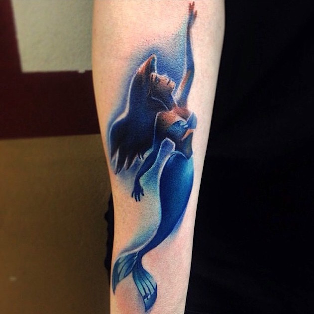 ariel-swimming-tattoo