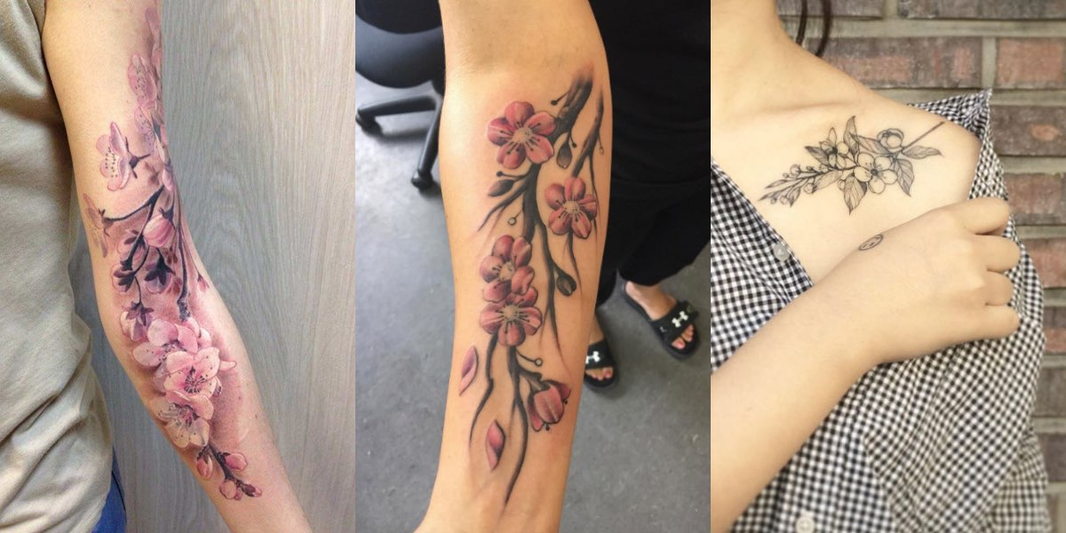 tatuaggi con il fiore di ciliegio