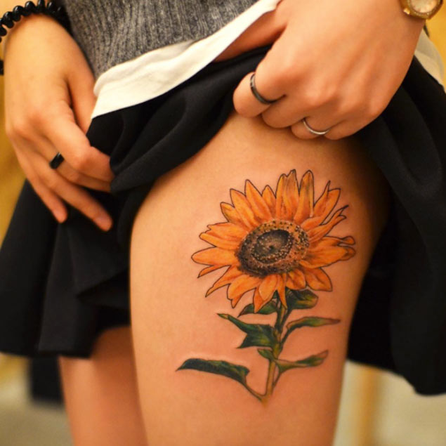 large-sunflower-tattoo