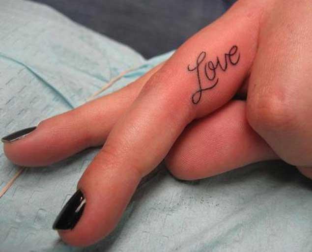 love-finger-tattoo