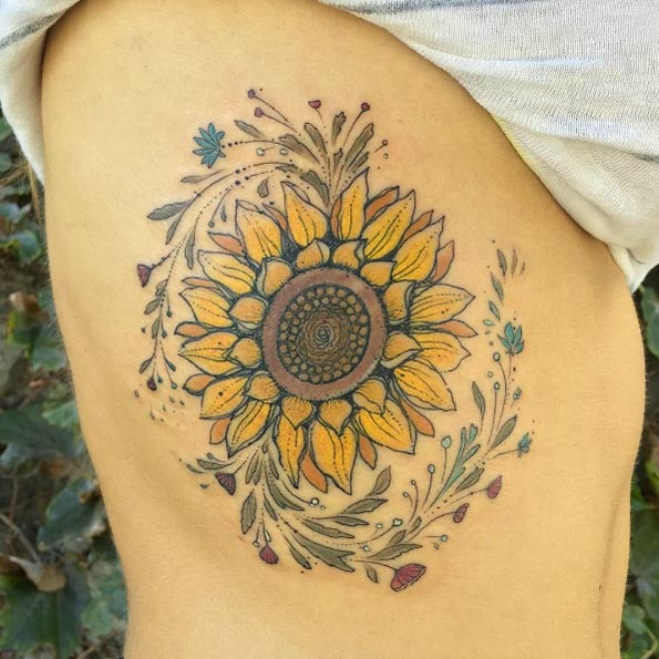 sunflower-tattoo-2