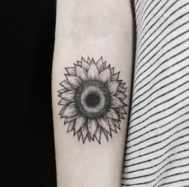 sunflower-tattoo-desgin