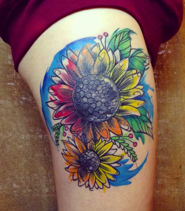sunflower-tattoo-design-10