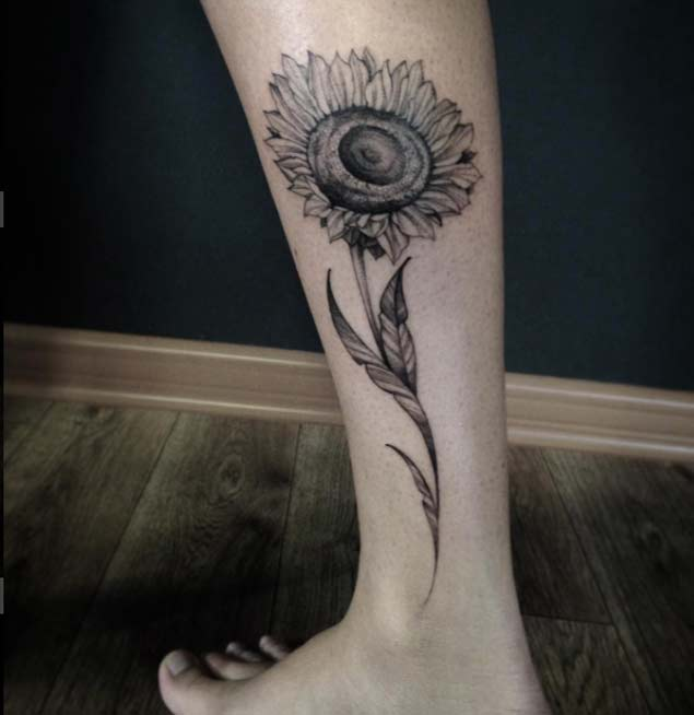 sunflower-tattoo-design-11