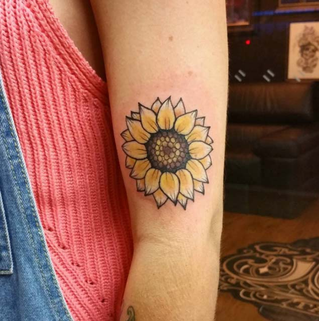 sunflower-tattoo-design-5 - TatuaggiStyle.it