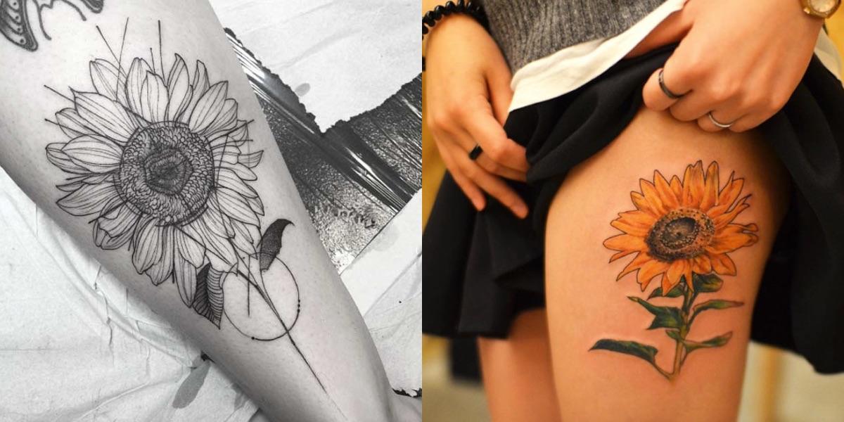 40 meravigliosi tatuaggi con il girasole che non potete assolutamente perdere!