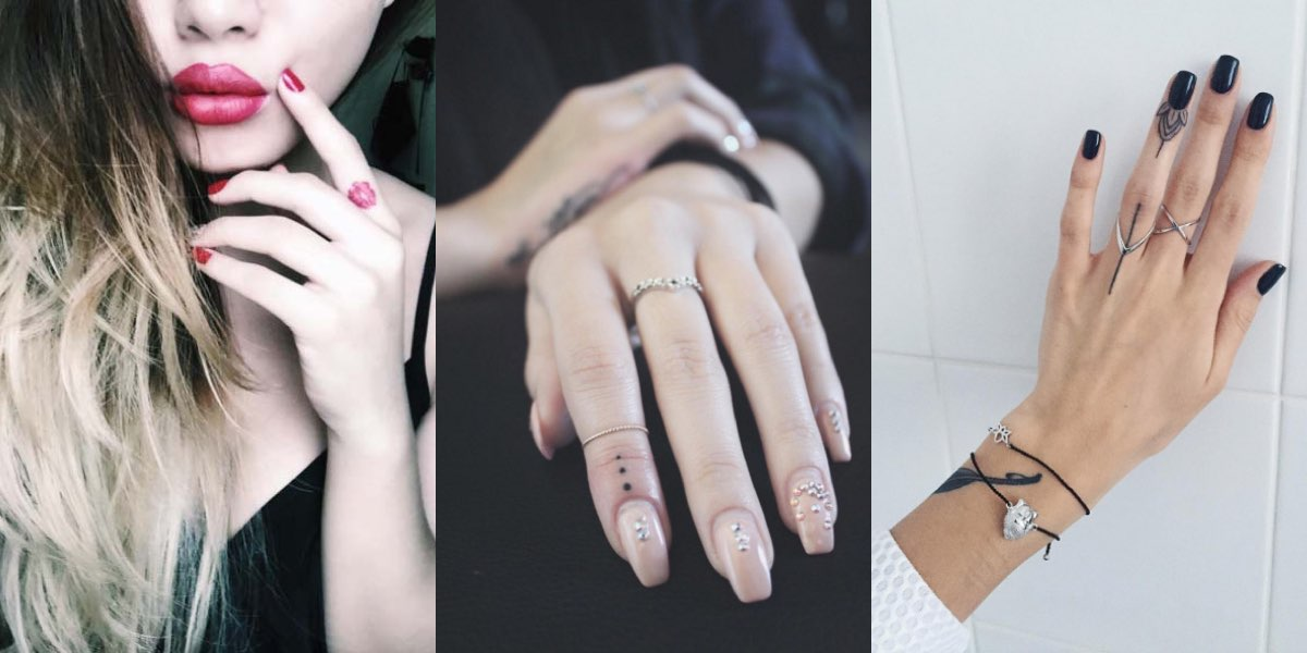 40 Tatuaggi Maschili E Femminili Per Le Dita Della Mano