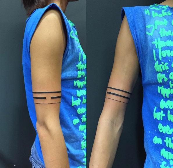 Favorito Tatuaggi con le bande sull'avambraccio: foto e significati! KL06